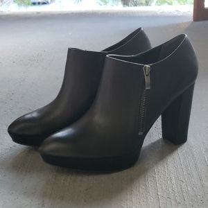 Franco Sarto 'Sheila' Black Platform Booties - 9
